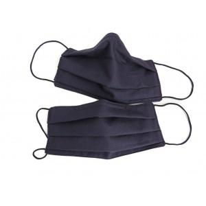 Set of 2 dark blue cotton masks
