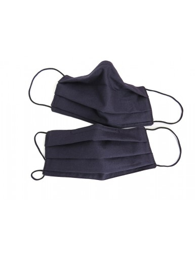 Set of 2 dark blue cotton masks