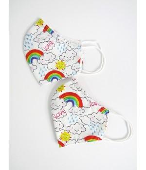 Children's rainbow face mask - Set of 2