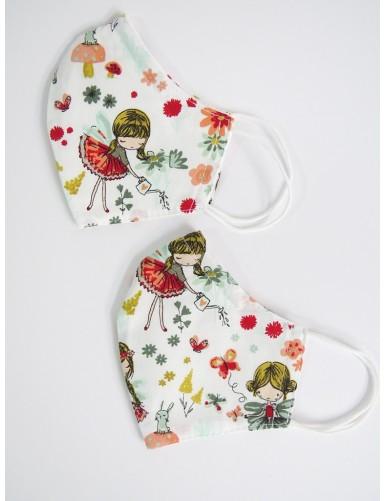 Little ballerinas washable face masks - set of 2
