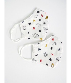 Children's mickey mouse face coverings set of 2