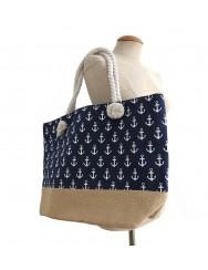 Navy blue beach bag