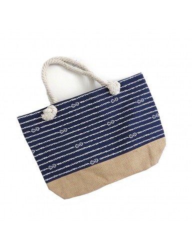 Navy blue beach bag